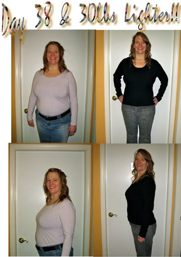 Lynn after 38 days of the HCG diet
