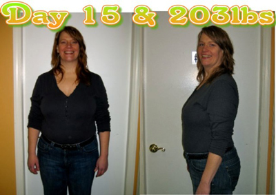 Lynn after 15 days of the HCG diet