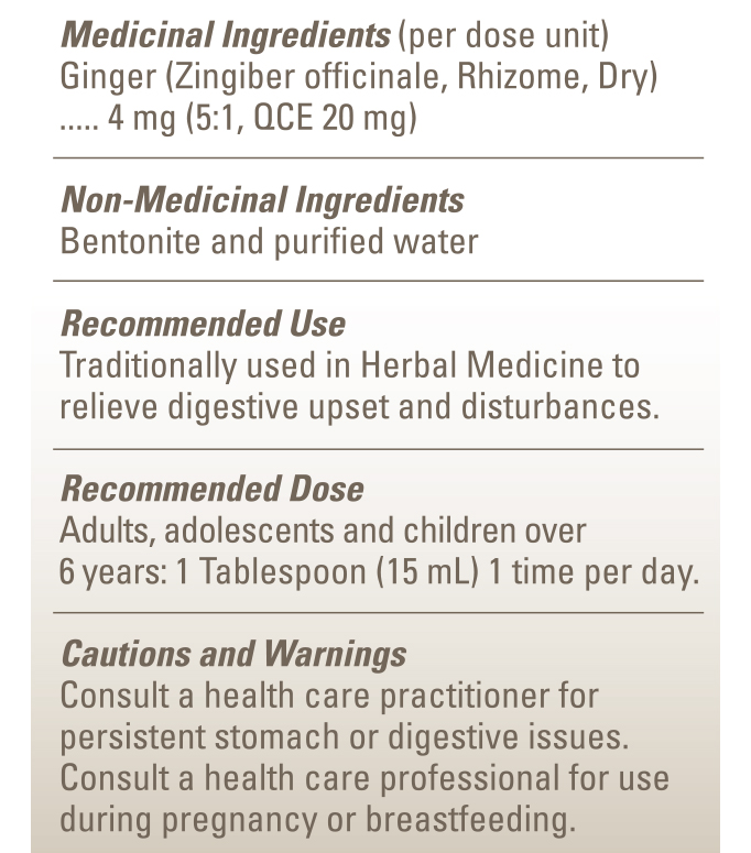 Galenic Health Ginger in Bentonite Nutritional Ingredients