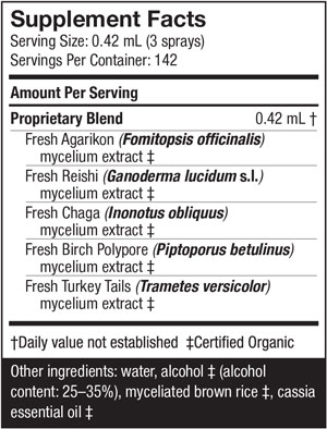 Host Defense Mycoshield Nutritional Information