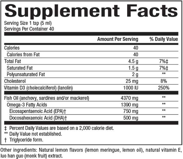 SeaRich Nutritional Facts